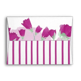 Hot Pink Tulips Envelope