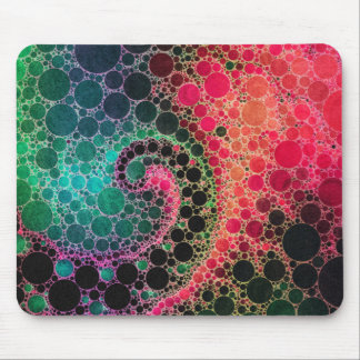 Hot Pink Turquoise Green Abstract Mouse Pad
