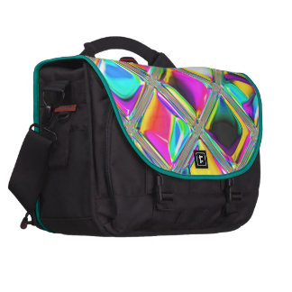 Hot Pink & Turquoise Sparkle Glass Mosaic Art Computer Bag