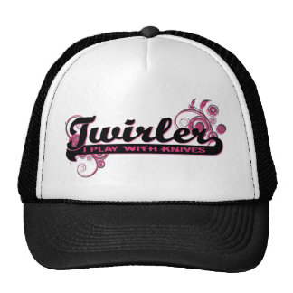 Hot Pink Twirler: I Play With Knives Trucker Hat