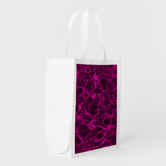 Hot Pink Underwater Wavy Rippling Water Cloudy Fla Reusable Grocery Bag