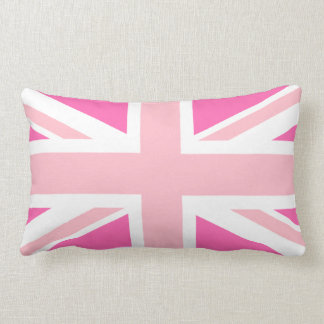 Hot Pink Union Jack Lumbar Pillow