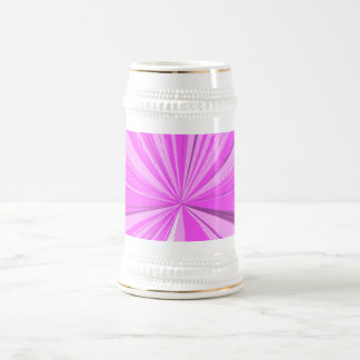 Hot Pink Vanishing Point Beer Stein 18 Oz Beer Stein