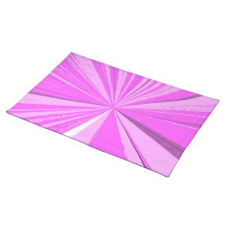 Hot Pink Vanishing Point Placemat