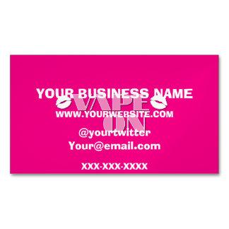 Hot Pink Vape On Magnetic Business Card