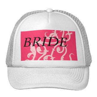 hot pink vine trucker hat
