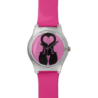 Hot Pink Violin Kids Watch with Love