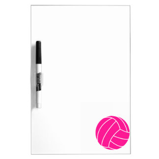 Hot Pink Volleyball Dry Erase Board