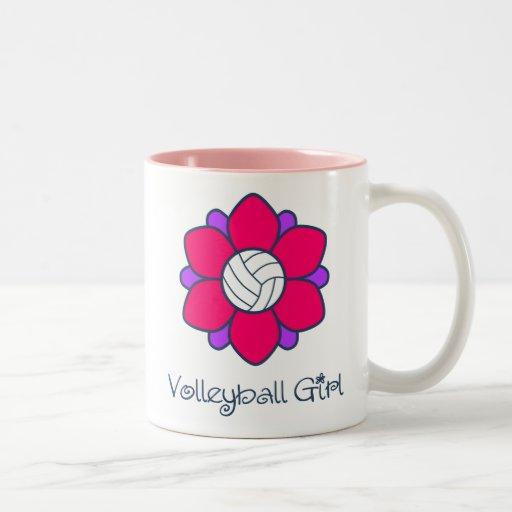 Hot Pink Volleyball Girl Coffee Mug