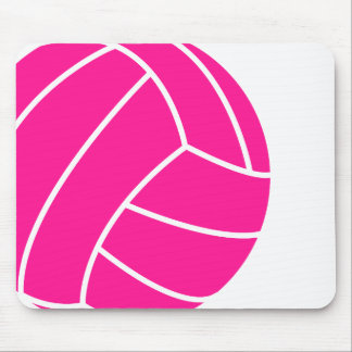 Hot Pink Volleyball Mouse Pad