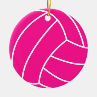 Hot Pink Volleyball Ornament