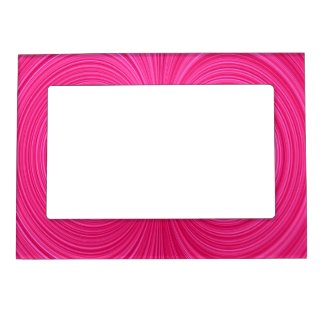 Hot Pink Vortex Magnetic Magnet Photo Frame Magnet