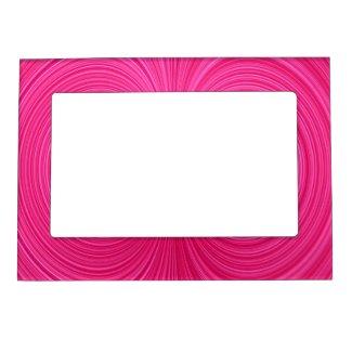 Hot Pink Vortex Magnetic Magnet Photo Frame Magnet