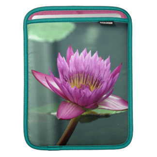 Hot Pink Water Lily Sleeves For iPads