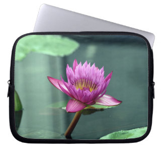 Hot Pink Water Lily Laptop Sleeve