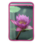 Hot Pink Water Lily MacBook Air Sleeves