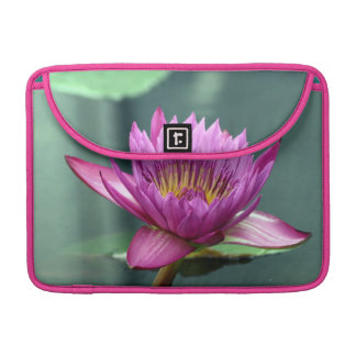 Hot Pink Water Lily Sleeves For MacBook Pro