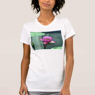 Hot Pink Water Lily T Shirt