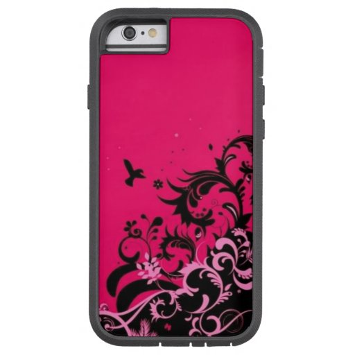 Hot Pink Waves iPhone 6 case : Zazzle