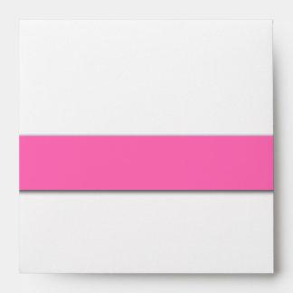 Hot Pink Wedding Invitation Envelope Names