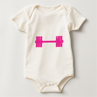 Hot Pink Weight Baby Bodysuit