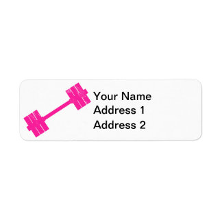Hot Pink Weight Label