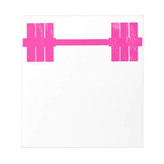Hot Pink Weight Notepad
