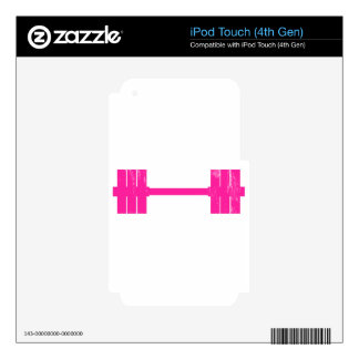 Hot Pink Weight Skins For iPod Touch 4G