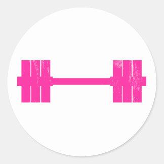 Hot Pink Weight Classic Round Sticker