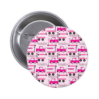 Hot Pink Wheels Vintage Cars Trucks Scooters Wagon Pinback Button