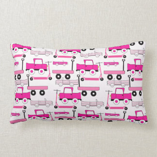 Hot Pink Wheels Vintage Cars Trucks Scooters Wagon Throw Pillows