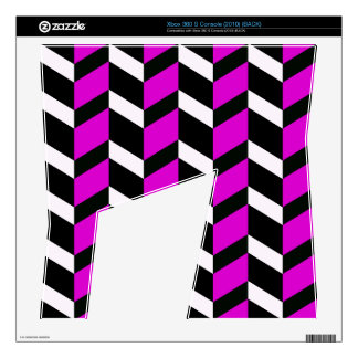 Hot Pink White and black chevron Xbox 360 S Console Decal