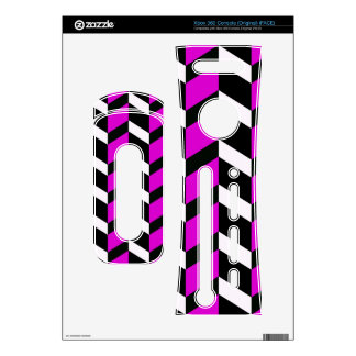 Hot Pink White and black chevron Decals For The Xbox 360