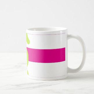 Hot Pink White and Green Seahorse Coffee Mug
