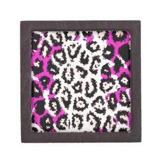Hot Pink White Cheetah Jewelry Box