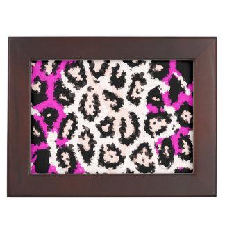 Hot Pink White Cheetah Memory Box