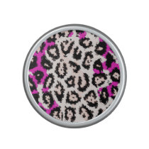 Hot Pink White Cheetah Speaker