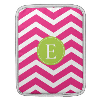 Hot Pink White Chevron Green Monogram Sleeves For iPads