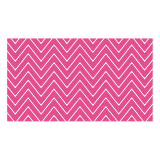 Hot Pink White Chevron Pattern 2A Business Card Templates