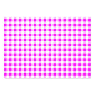 Hot Pink White Gingham Pattern Large Business Card