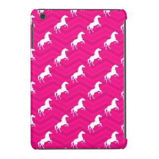 Hot Pink, White Horse, Equestrian, Chevron iPad Mini Cases