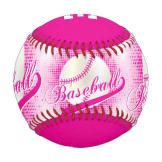 Hot Pink | White Retro Baseball Sports