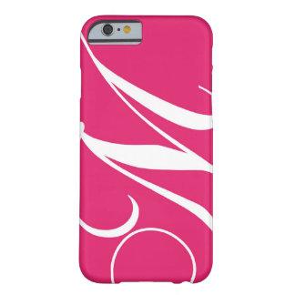 Hot Pink White Script Monogram M iPhone 6 Case