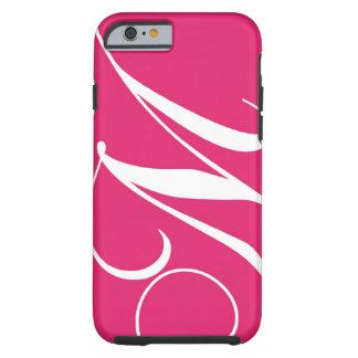 Hot Pink, White Script Monogram M Tough iPhone 6 Case