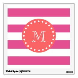 Coral Monogram Wall Decals Wall Stickers Zazzle - Coral monogram wall decal
