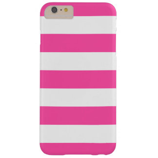 Hot Pink White Stripes Pattern Girly Barely There iPhone 6 Plus Case