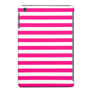 Hot Pink & White Stripes; Striped iPad Mini Covers