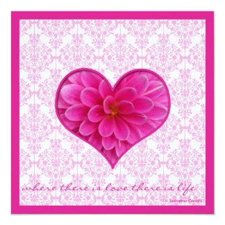 Hot Pink & White Wedding Invitation