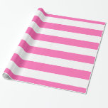 Hot Pink, White XL Stripes Pattern Wrapping Paper