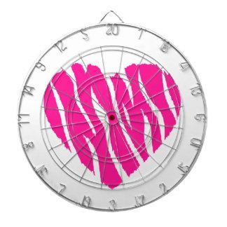Hot Pink Wild Heart Dartboards